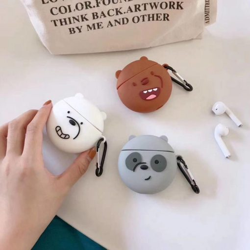We Bare Bears 'Smiling Brown Bear' Premium AirPods Case Shock Proof Cover