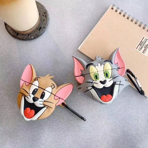 Tom and Jerry 'Excited Tom' Premium AirPods Case Shock Proof Cover