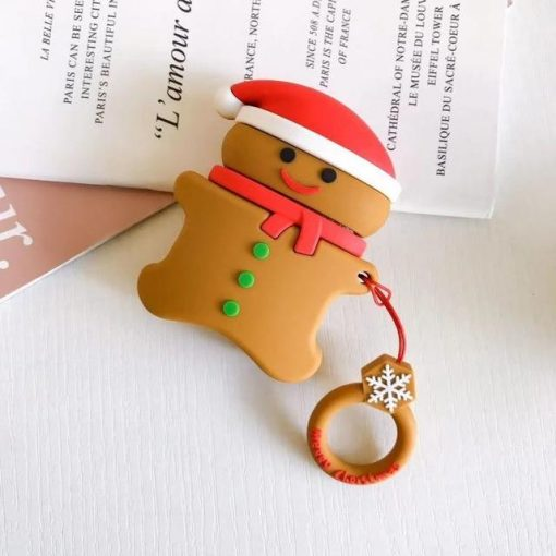 Christmas Gingerbread Cookie Premium AirPods Case Shock Proof Cover