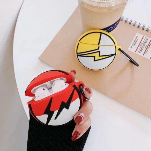 Pokemon 'Red Lightning Pokeball' Premium AirPods Case Shock Proof Cover