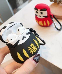 Japanese Good Luck Daruma Tumbler Doll Premium AirPods Case Shock Proof Cover