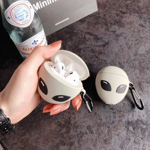 Alien 'Serious Glow in the Dark | Area 51' Premium AirPods Case Shock Proof Cover