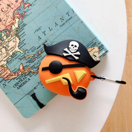 Jack O Lantern in a Pirate Costume Premium AirPods Case Shock Proof Cover
