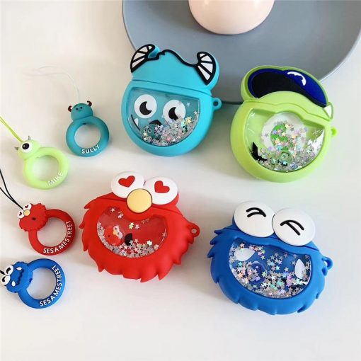 Monsters Inc. 'Baby Mike Wizowski Snow Globe' Premium AirPods Case Shock Proof Cover