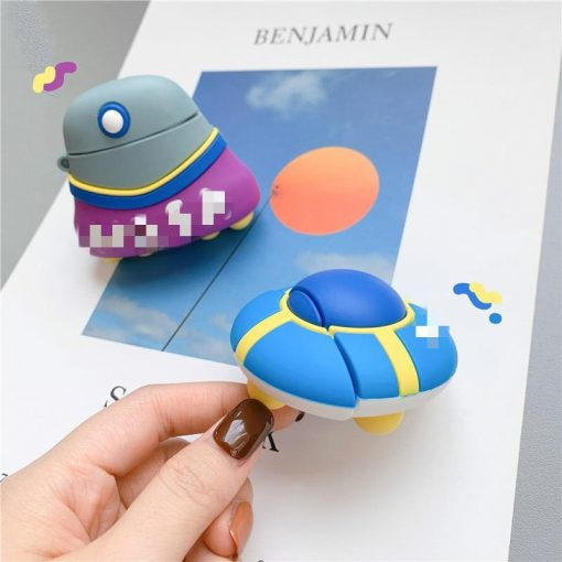 Cute Alien Flying Saucer Premium AirPods Case Shock Proof Cover
