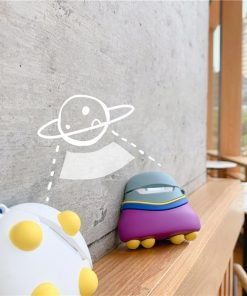 Cute Alien Flying Space Craft Premium AirPods Case Shock Proof Cover