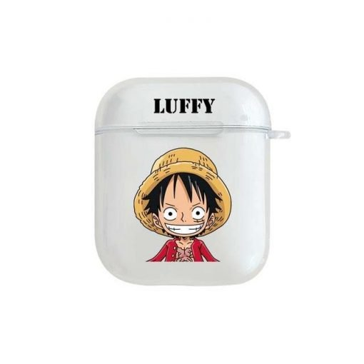 One Piece 'Luffy' Clear Acrylic AirPods Case Shock Proof Cover