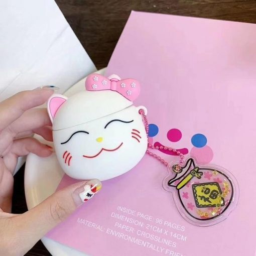 Cute Japanese Cat Premium AirPods Case Shock Proof Cover
