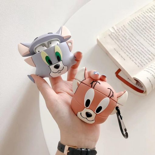 Tom and Jerry 'Cute Tom' Premium AirPods Case Shock Proof Cover