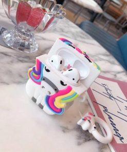 Cute 3D Rainbow Unicorn Premium AirPods Case Shock Proof Cover
