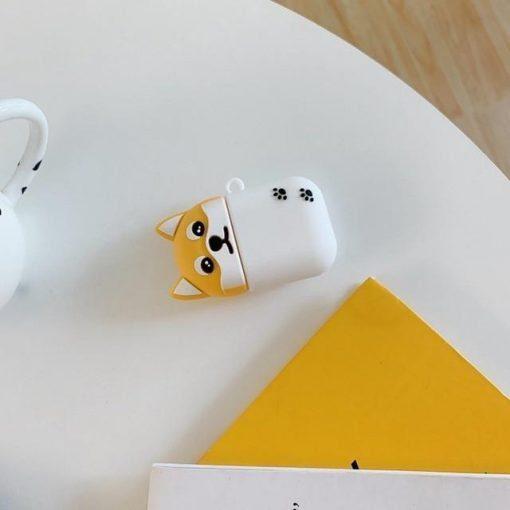 Cute Blonde and White Corgi Dog Premium AirPods Case Shock Proof Cover