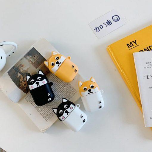 Cute Black and White Corgi Dog Premium AirPods Case Shock Proof Cover