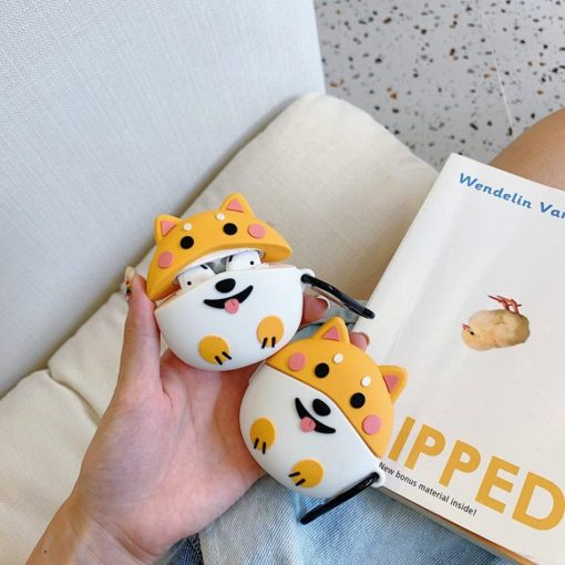 Cute Round Happy Corgi Dog Premium AirPods Case Shock Proof Cover