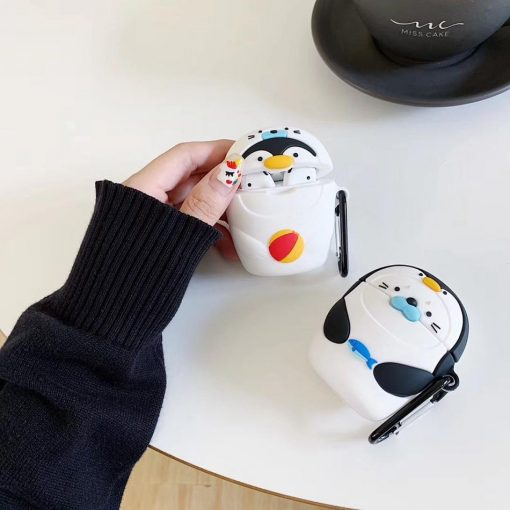 Penguin in a Seal Costume Premium AirPods Case Shock Proof Cover