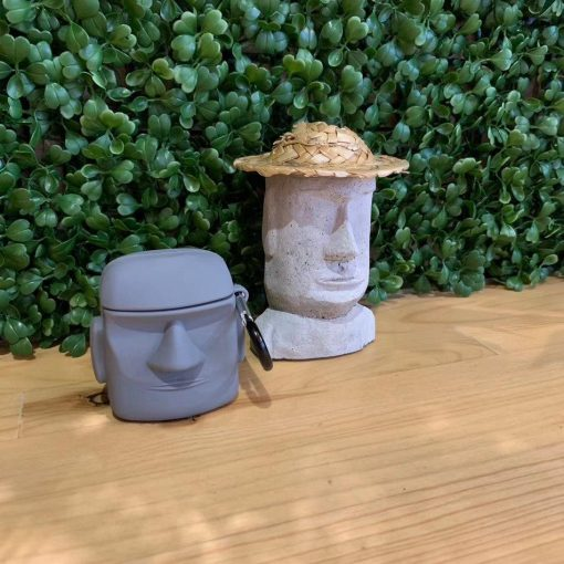 Cute Easter Island 'Moai Statue' Premium AirPods Case Shock Proof Cover