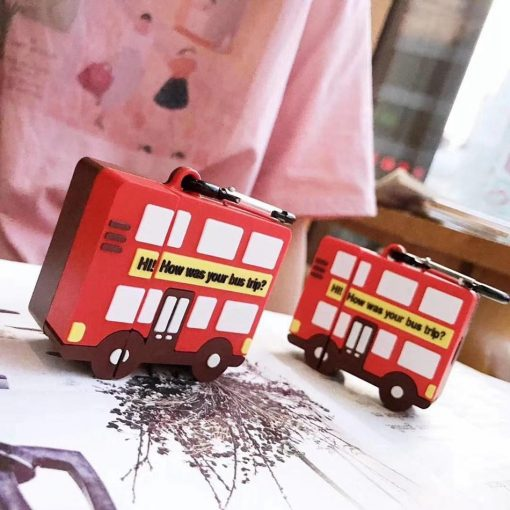 Cute Bus Premium AirPods Case Shock Proof Cover