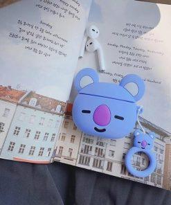 Happy Blue Koala Premium AirPods Case Shock Proof Cover