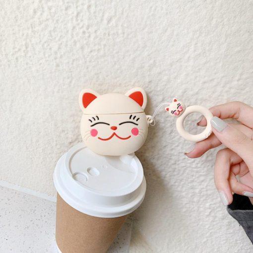 Japanese Neko Cat Premium AirPods Case Shock Proof Cover