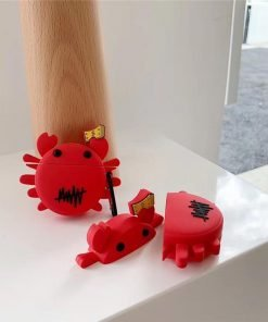 Red Crab with Cash Premium AirPods Case Shock Proof Cover