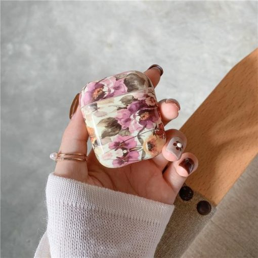 Flowers AirPods Case Shock Proof Cover