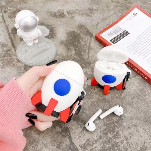 Cute Space Rocket Premium AirPods Case Shock Proof Cover