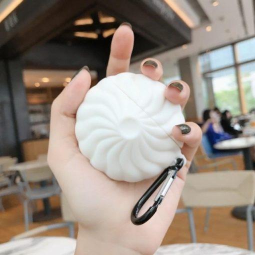 Cute Steamed Dumplings AirPods Case Shock Proof Cover