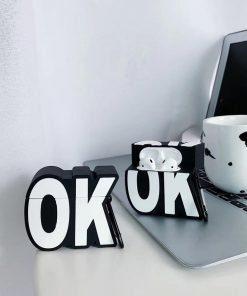 Cute OK Emoji Premium AirPods Case Shock Proof Cover