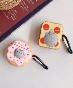 Cat on Donut Premium AirPods Case Shock Proof Cover