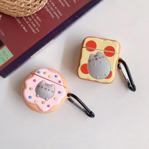 Cat on Pizza Premium AirPods Case Shock Proof Cover