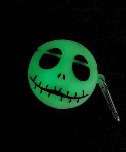 Nightmare Before Christmas 'Jack Skellington | Glow in the Dark' Premium AirPods Case Shock Proof Cover