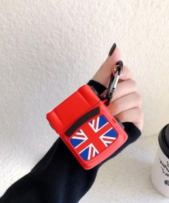Mini Cooper with British Flag Premium AirPods Case Shock Proof Cover