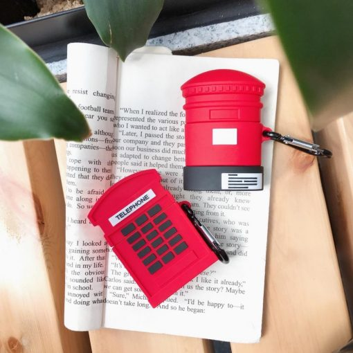 British Telephone Booth Premium AirPods Case Shock Proof Cover