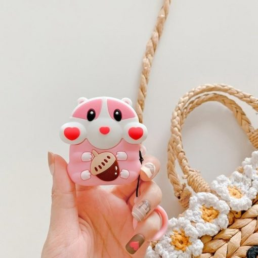 Cute Chipmunk with Acorn Premium AirPods Case Shock Proof Cover