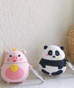 Cute Pudgy Panda Premium AirPods Case Shock Proof Cover