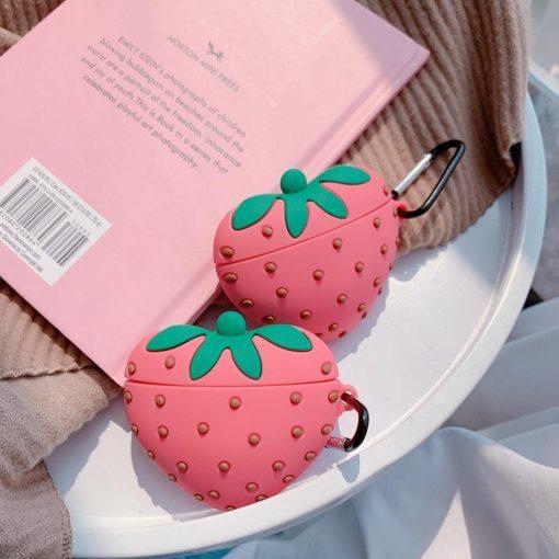 Cute Strawberry Premium AirPods Case Shock Proof Cover