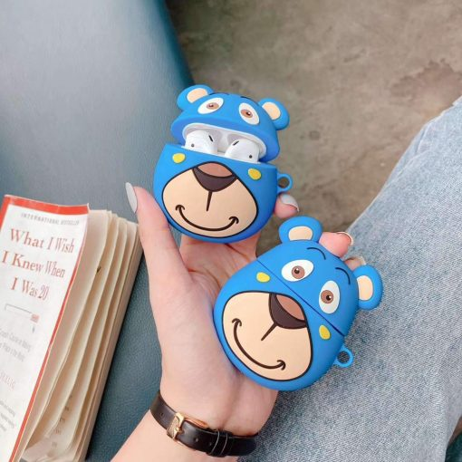 Blue Teddy Bear Premium AirPods Case Shock Proof Cover