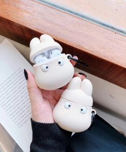 White Hippo 'Moomin' Premium AirPods Case Shock Proof Cover