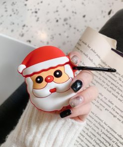Cute Christmas Santa Premium AirPods Case Shock Proof Cover