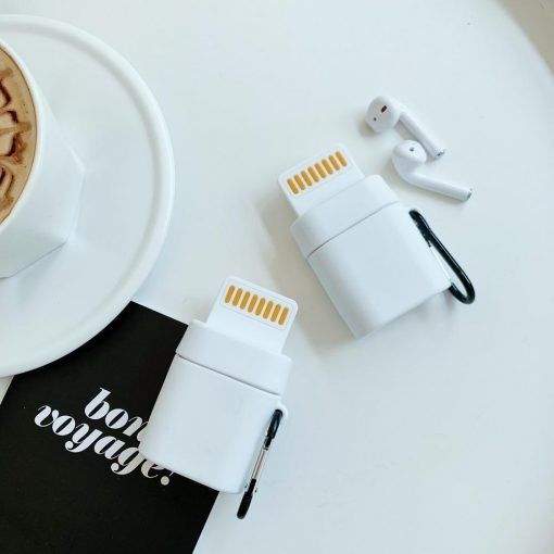 Cute Lightning Cable AirPods Case Shock Proof Cover