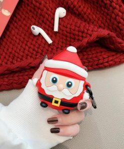 Standing Santa Premium AirPods Case Shock Proof Cover