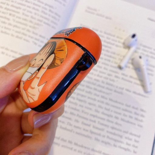 One Piece 'Smiling Luffy' AirPods Case Shock Poof Cover