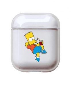 The Simpsons 'Bart Chilling' Clear Acrylic AirPods Case Shock Proof Cover