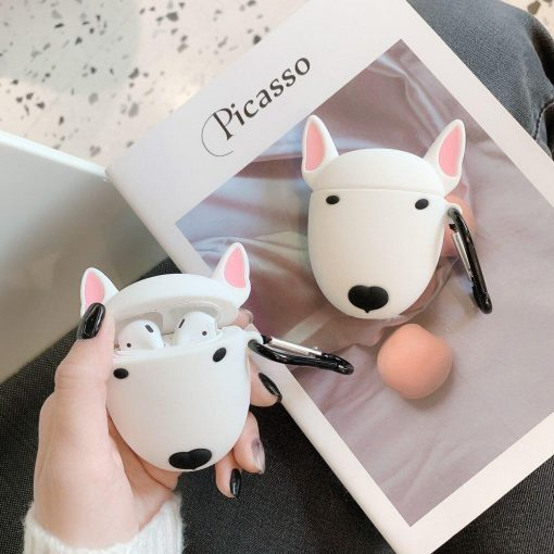 Bull Terrier Dog Premium AirPods Case Shock Proof Cover