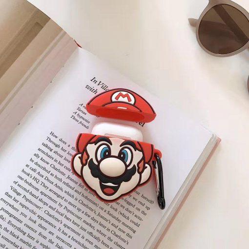 Super Mario Bros. 'Excited Mario' Premium AirPods Case Shock Proof Cover