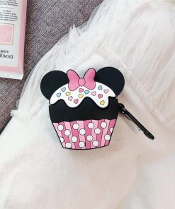 Minnie Mouse Cupcake Premium AirPods Case Shock Proof Cover