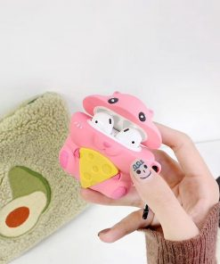 Pink Mouse with Cheese Premium AirPods Case Shock Proof Cover