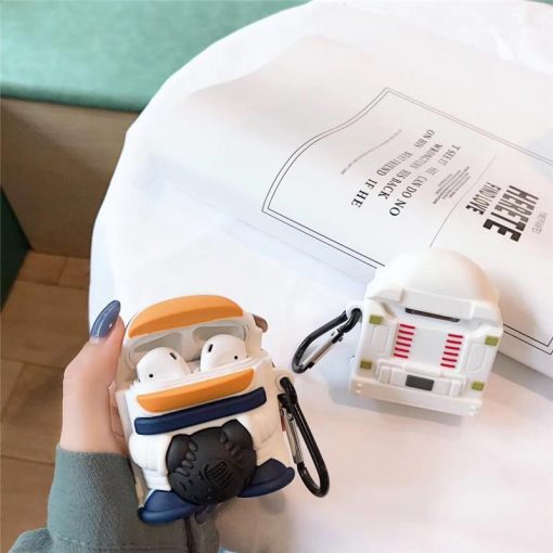 Cute Spaceman Premium AirPods Case Shock Proof Cover