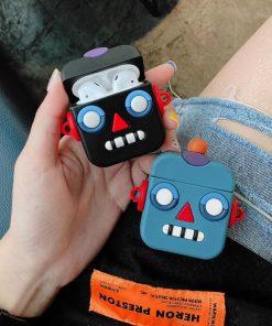 Robot Emoji Premium AirPods Case Shock Proof Cover