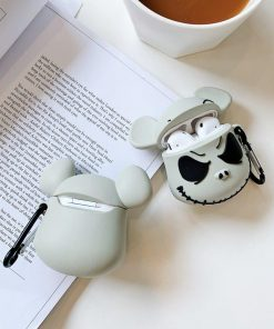 The Nightmare Before Christmas 'Jack Skellington | Mickey Mouse' Premium AirPods Case Shock Proof Cover
