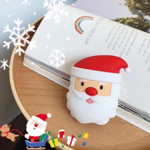 3D Santa Claus Premium AirPods Case Shock Proof Cover